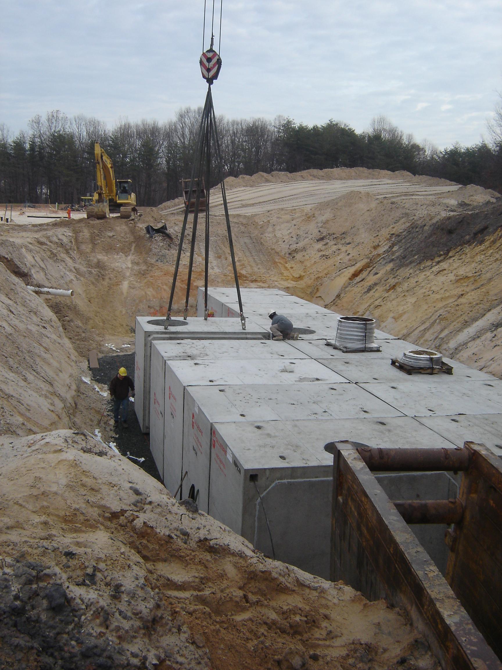 Box Culvert Sandfilter Vault